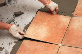 how to install floor tiles method statement