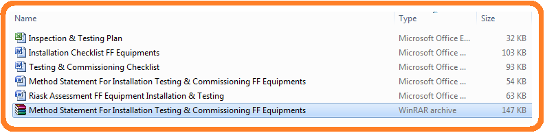 Method Statement For Installation Testing & Commissioning FF Equipments