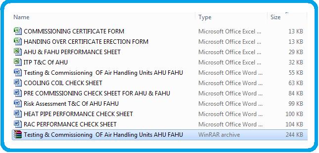 Testing & Commissioning of AHU FAHU