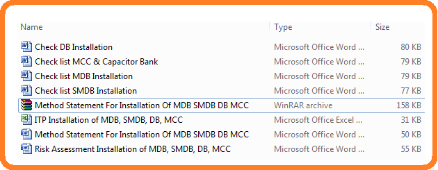 Method Statement For Installation Of MDB SMDB DB MCC