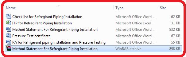 Method Statement For Refregirant Piping Installation