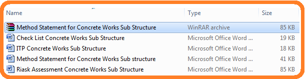 Method Statement for Concrete Works Sub Structure
