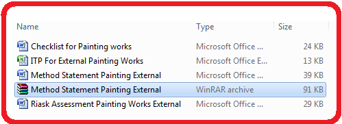 method statement for painting works external