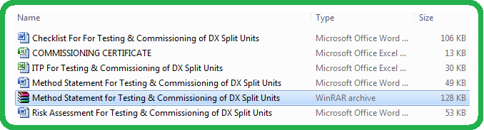 Download Method Statement For Testing & Commissioning of DX Split Units