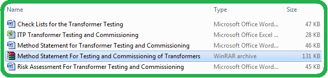 Download Method Statement For Testing & Commissioning of Transformers