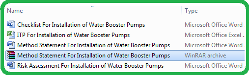 Download  Method Statement For Installation Of Water Booster Pump Set