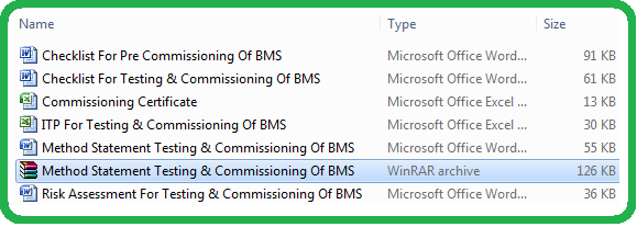 Method Statement Testing & Commissioning Of BMS