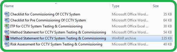 Method Statement for CCTV System Testing & Commissioning
