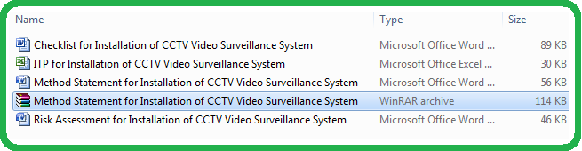 Download Method Statement for Installation of CCTV Closed Circuit Video Surveillance TV System