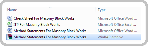 Method Statements For Masonry Block Works