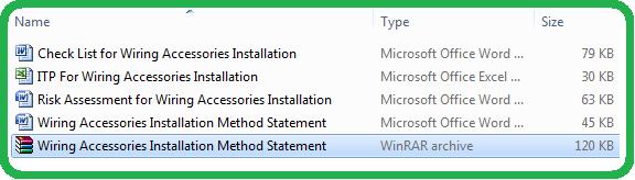 Wiring Accessories Installation Method Statement