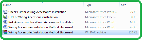 Download Method Statement for Installation Of Wiring Accessories