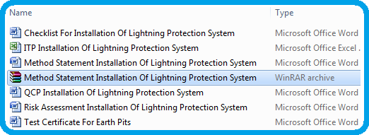 Method Statement Installation Of Lightning Protection System