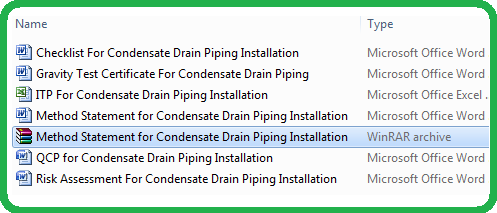 Method Statement for Condensate Drain Piping Installation