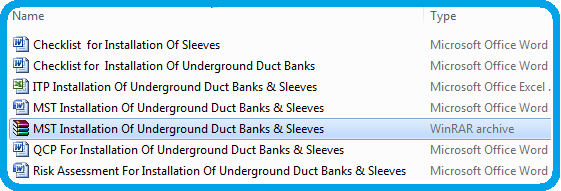 Method Statement for Installation Of Underground Duct Banks & Sleeves