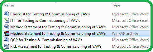 Download Method Statement for Testing & Commissioning of Variable Air Volumes VAV System