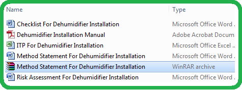 Method Statement For Dehumidifier Installation