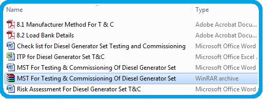 MST For Testing & Commissioning Of Diesel Generator Set