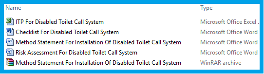 Method Statement For Installation Of Disabled Toilet Call System