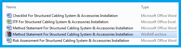 Method Statement For Structured Cabling System & Accessories Installation