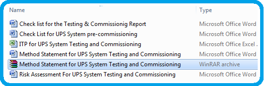 Method Statement for UPS System Testing and Commissioning